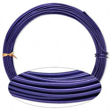45 Feet Purple Aluminum Wrapping Wire for Wire Wrapping ~ 12 gauge ~ 2mm Round