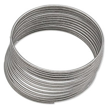 "1 Ounce Silver Stainless Steel 3/4"" Ring  Memory Wire ~ Approx 155 Loops"