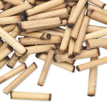 100 Tan Bamboo Wood Round Tube Bead  ~ 18x3mm-20x4mm