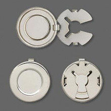 10 OR 100 Imitation Nickel Plated Button Covers  18mm  ~Just Embellish