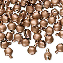 100 Steel Matte Copper Color Bells ~   6mm OR 10mm