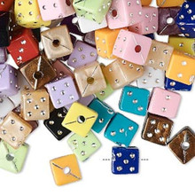 75 Grams Acrylic 6x6mm Dice Beads with Silver Accent MIX