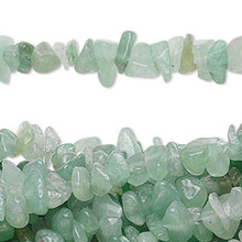 "34"" Strand Natural Green Aventurine Medium Chip Beads"