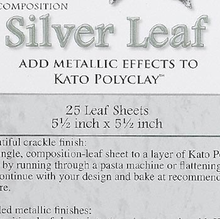 "25 Sheets Imitation Silver Leaf ~ 5.5"" Sheets Metallic Leafing"