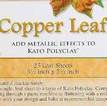 "25 Sheets Imitation 100% Copper Leaf ~ 5.5"" Sheets Metallic Leafing"