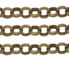 "15"" Oxidated Gold Large Heavy Curb Chain ~ 9x10mm Links  *"