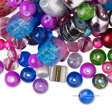 1/4 Pound Glass Bead Mix ~ Multi Colors  ~ Approximately 390 Beads  *