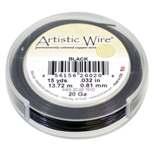 15 Yards Artistic Wire Permanent Black Copper Based 20 Gauge Wrapping Wire