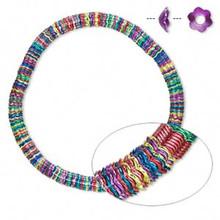 300 Multi Jewel Tone Steel Daisy Flower Bead Caps ~ 5x2mm ~ Fits 6-8mm Beads