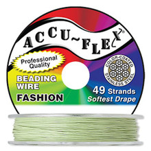 "30 Foot Spool Accu-Flex 49 Strand Light Green 0.019"" Diameter Beading Wire"