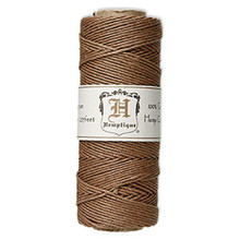 205 Foot Spool Light Brown Natural Hemp Cord ~ 1mm ~ 20lb Test
