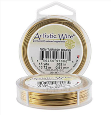 15 Yards Artistic Wire Non Tarnish Brass Gold 22 Gauge Wrapping Wire