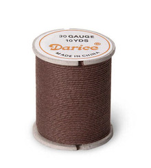 10 Yard Spool Brown Cloth Covered Wrapping Wire