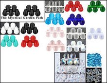 Opaque Transparent Matte OR AB Glass Teardrop Beads 6x4mm *Many Colors Available