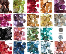 100 Mussel Shell Coin Drop Charms 10mm ~  Many Colors Available