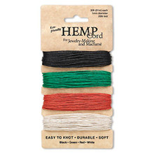 120 Foot Set Smooth Hemp Cord ~ Assorted Primary ~ 1mm ~ 20lb Test
