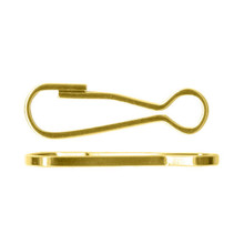 12 Gold Plated Steel Spring Clip Lanyard Hooks ~ 20x6mm