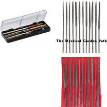 3 OR 12 piece Set Fine Needle Files  ~ Smooth Rough Edges & Inside of Beads