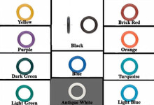 100 Rubber OH Rings 15mm Spacer Link Bead *Many Colors To Choose