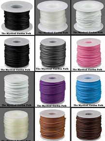 82 Foot Solid Rubber 1mm OR 2mm Beading Cord ~ Many Colors