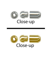 20 Gold OR Silver Screw On Lariat End Cap ~ Hide Knots *