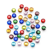 1000 Hot Fix Glass Flat Back Round Rhinestones ~ 3mm Assorted Colors