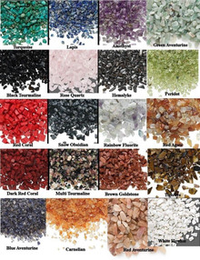 50 Grams GEMSTONE Mini UN-DRILLED Chips ~ Embellishments