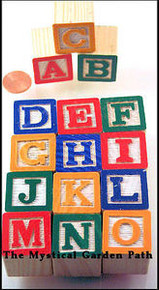 "15 Mini  ABC Alphabet Blocks 5/8"" (15mm)  Painted Letter Cubes"