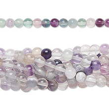 1 Strand Natural Rainbow Fluorite 4mm Round Gemstone Beads