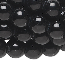 1 Strand Black Obsidian Natural 4mm Round Beads