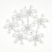 1000 Transparent Clear Crystal 10mm Acrylic Star Flake Snowflake Beads