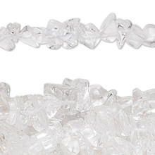 "34"" Strand Natural Quartz Crystal Medium Chip Beads"