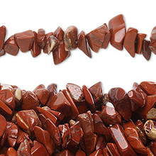 "34"" Strand Natural Red Jasper Medium Chip Beads"