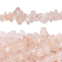 "34"" Strand Rose Pink Quartz Medium Chip Beads"