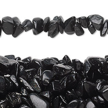 "34"" Strand Blackstone Smooth Medium Chip Beads"