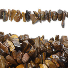 "34"" Strand Brown & Gold Tigereye Medium Chip Beads"