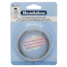 49.2 Feet Stainless Steel 1/2 Round Wrapping Wire ~ 22  Gauge