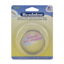 14.8 Feet Stainless Steel Square Wrapping Wire ~ 21  Gauge