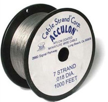 1000 Foot Spool Tiger Tail Beading Wire ~ .018-Inch ~ Clear ~ 7 Strand