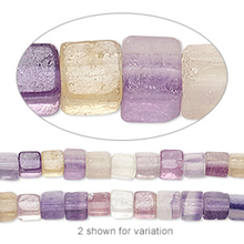 1 Strand Rainbow Fluorite Gemstone 4x4mm Square Cube Beads ~ Grade B