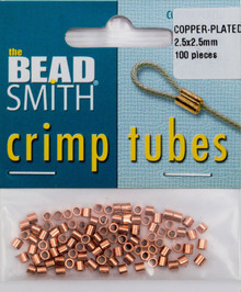 100 Copper Plated 2.5mm Crimp Tube Crimping Beads