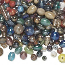 1/2lb+ Glass Luster Bead Mix ~ Approximately  450-550 beads