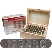 """LETTER & NUMBER Stamp PUNCH SET ~ 6.0MM (1/4"""") IN WOOD BOX"""