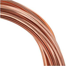 7 Yards Non Tarnish Copper Square Wrapping Wire ~ 21 gauge