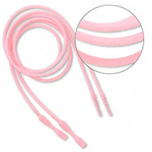 """4 Opaque Pink Silicone 18"""" Cord Necklace with Snap Closure ~ Just Add Pendant"""