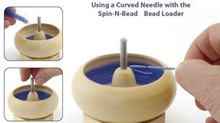 2 Big Eye Curved Flexible Beading Needles For Stringing & Spin-n-Bead Machines