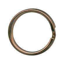 "12 Antiqued Copper Plated Split Rings Key Rings ~ 20mm ~ 3/4"""