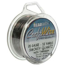 10 yard Spool Tarnish Resistant Smokey Quartz Wrapping Wire ~ 20 gauge