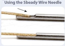1 Sbeady Wire Needle For Beadalon Wire for 0.018 Inch Beading Wire  *