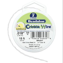 "15 Foot Spool Beadalon 7 Strand CRINKLE Beading WIRE ~ 0.018"" Bright"